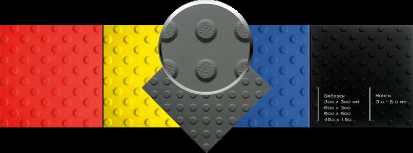 Noppenplatten aus Kunststoff