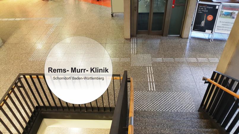 Rems Murr Klinik in Schondorf taktil ans Ziel